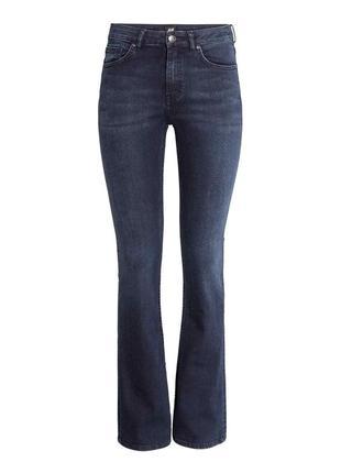 H&m джинсы клеш расклешенные синие