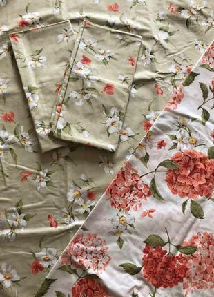 Постельный комплект компания цветы бязь голд