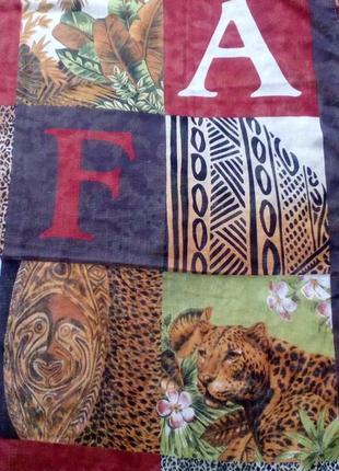 Art of the scarf tie rack шифоновый платок safari.