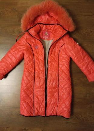 Демисезонное пальто, курточка на девочку 140-146р.