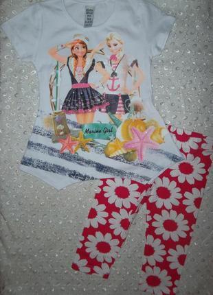 Летний костюм на девочку 2-3г