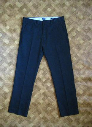 Школьные брюки, штаны - gap - tailored - straight fit - 31р. - наш 40-42рр.
