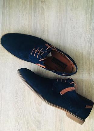 Туфли conphol синие замшевые