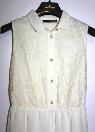 Прекрасное шифоновое платье с вышивкой на груди ( срочная уценка )3