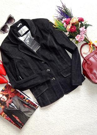 Новый пиджак из плотного джинса minuet