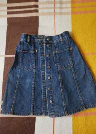 Джинсовая юбка высокая посадка талия