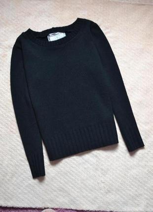 Черный вязанный свитер tamnoon /xs,s,s-m