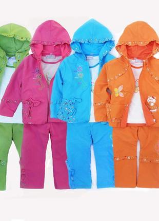 Яркие костюмчики для девочек