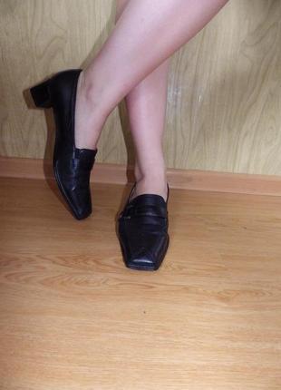 Качественные туфли/нат.кожа/низкий ход/26,5-27 см/ортопедические