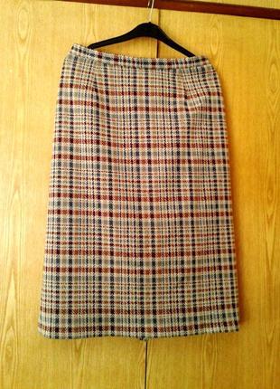 Красивая трикотажная юбка-карандаш ,xl