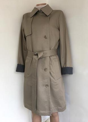 Плащ тренч пальто весенний коттоновый, на шерстяной подкладке gap, м/10/44 размер.