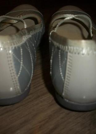 Кожаные балетки серебро евро размер 13 f clarks кларкс5 фото