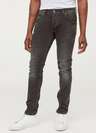 Модные мужские джинсы слим от h&m. размер w 33 l 34.