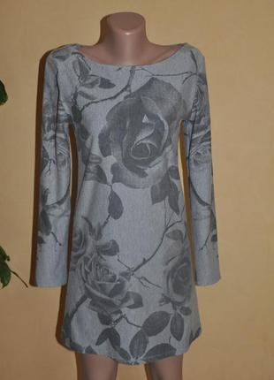 Трикотажное платье с начесом