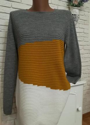 Длинный свитер оверсайз/р.xs-m/vero moda