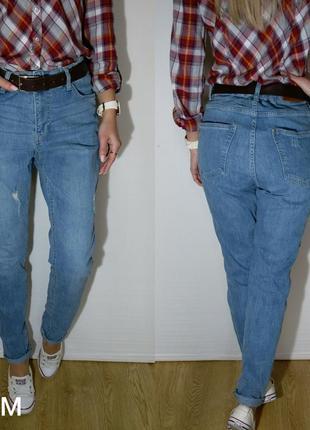 Красивые джинсы с завышенной талией h&m