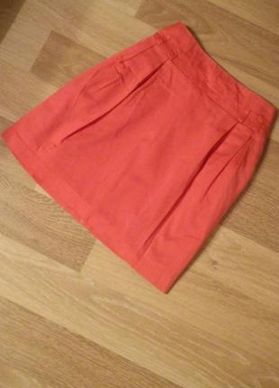 Коралловая юбка papaya