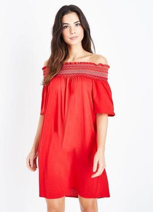 New look.товар из англии. платье со спущенными открытыми плечами. на наш размер 42