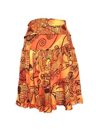 Многоярусная летняя юбка солнце