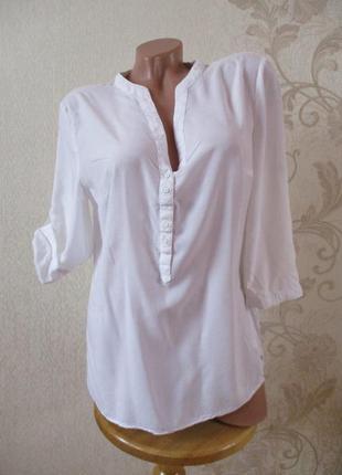 Рубашка/блуза белая/базовая/вискоза