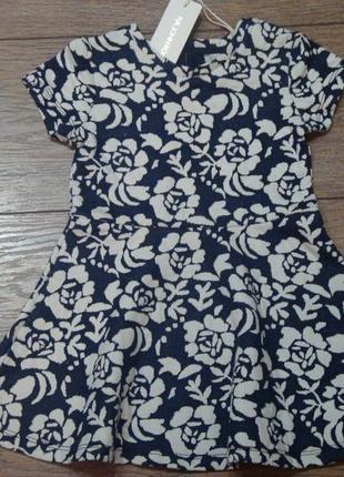 Красивое платье с розами john rocha 12-18 мес