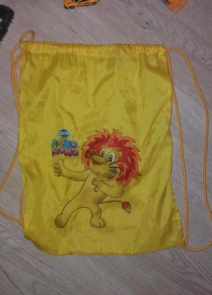 Яркий желтый  детский рюкзак-мешочек для обуви,одежды