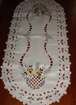 🌻🌻красивая нарядная салфетка ажурная белая 🌻🌼🌻