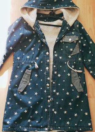 Шикарная джинсовая куртка или плащ💙