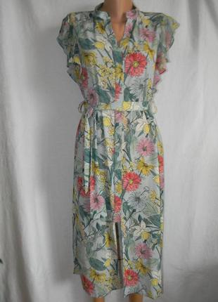 Красивое платье с цветочным принтом zara basic