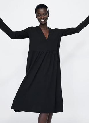 Нереально крутое платье в стиле оверсайз от zara - р-р л
