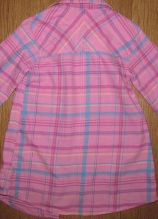 Фирменная рубашка-туника next  девочке 4-5 лет2 фото