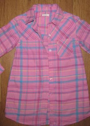 Фирменная рубашка-туника next  девочке 4-5 лет