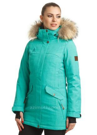 Женская куртка-парка azimuth  бирюза
