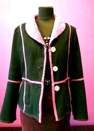 Хорошенькая дубленка/курточка из экозамши,размер м - l