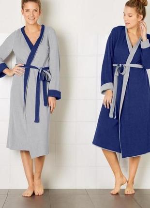 Уценка! нет пояса! двусторонний махровый халат тсм tchibo, германия. оригинал!