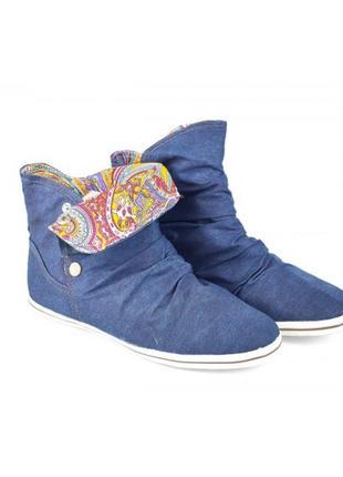 Ботинки текстиль
