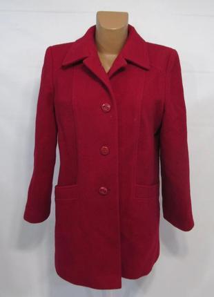 Роскошное люксовое пальто марсала чистая шерсть