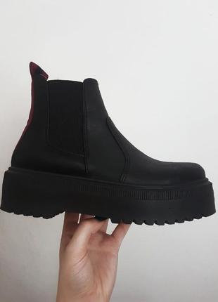 Новые черные ботинки челси на платформе от asos, актуальные ботинки демисезон