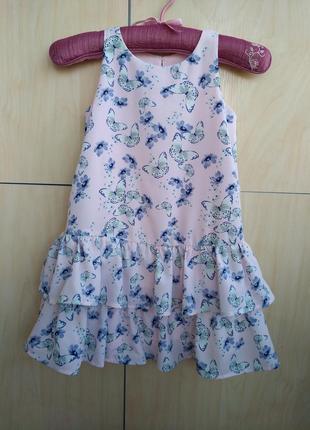 Нежное платье h&m на 5-6 лет