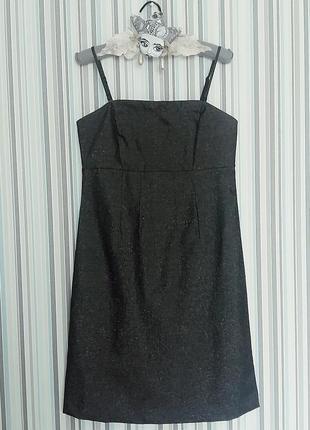 Серое платье с деликатным шиммером gap на размер s-m
