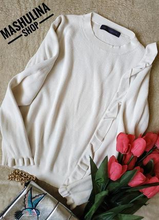 Белый джемперок с рюшами от m&s