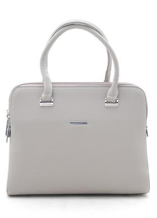 Новая серо-бежевая женская сумка