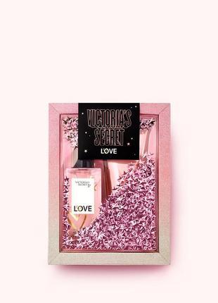 Подарочный набор от victoria's secret мист+ лосьон love