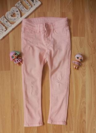 Фирменные джинсы h&m малышке 2-3 года состояние новых.