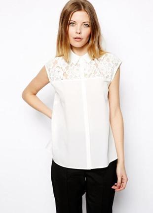 Блуза с отделкой из кружева asos,р-р 4,10