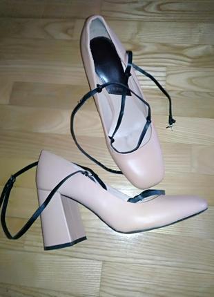 Mango туфли нежно-розовые