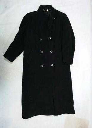 Роскошное длинное пальто шерсть-кашемир