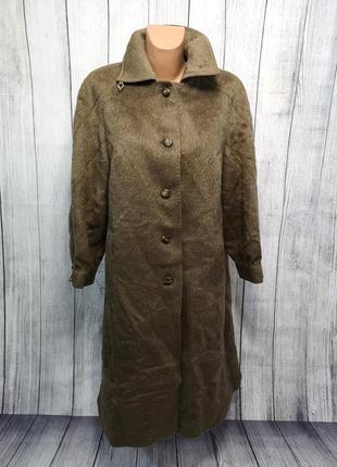Брендовое натуральное пальто из ламы