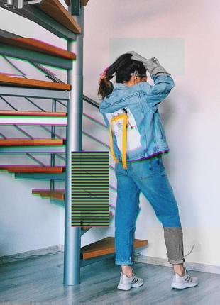 Джинсовая куртка с рисунком / джинсовка / джинсовый жакет