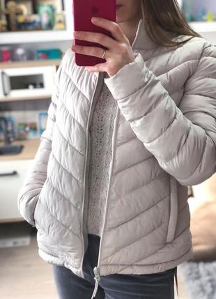Куртка женская gap светлая бежевая серая пудровая размер s